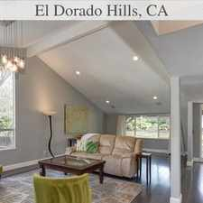 Rental info for El Dorado Hills Is The Place To Be! Come Home T...