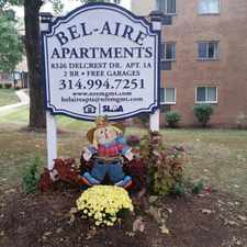 Rental info for Bel Aire Apartments in the 63130 area