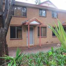Rental info for Spacious townhouse in popular complex... in the Kirrawee area