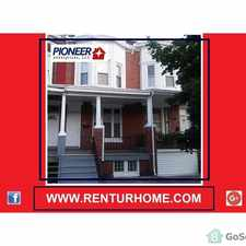 Rental info for 3 BED / 1 BATH HOME LOCATED IN WALKING DISTANCE OF JOHN HOPKINS UNIVERSITY in the Harwood area