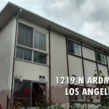 Rental info for 1219 N Ardmore Ave in the East Hollywood area