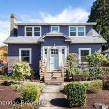 Rental info for 7424 SE 17th Ave in the Sellwood-Moreland area