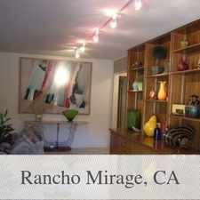 Rental info for In The Heart Of The Thunderbird Country Club. in the Rancho Mirage area