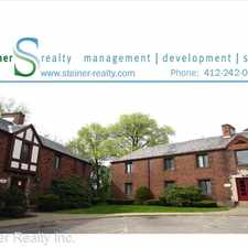 Rental info for Tudor Court Apartments 131 Edgewood Avenue - Apt T4 in the Pittsburgh area