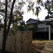 Rental info for WORKERS COTTAGE WITH GREAT LOCATION in the Toowong area