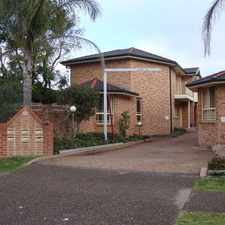 Rental info for Spacious 3 Bedroom Townhouse in the Kirrawee area
