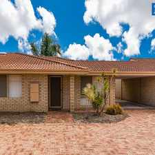 Rental info for Quiet complex in gorgeous Morley cul-de-sac with NBN now available! in the Perth area