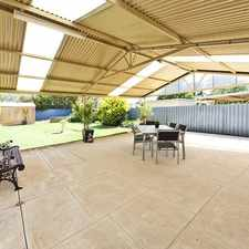 Rental info for HUGE OUTDOOR ENTERTAINING AREA THAT WILL IMPRESS!