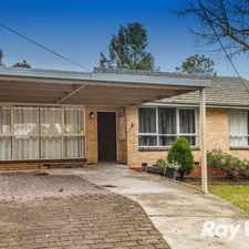 Rental info for BEAUTIFULLY RENOVATED FAMILY HOME in the Croydon area