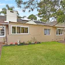 Rental info for Conveniently Located Family Home in the Pennant Hills area