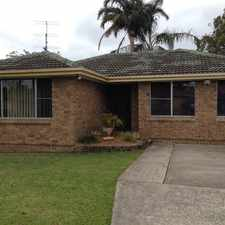 Rental info for NEAT & TIDY 3 BEDROOM HOUSE in the Wollongong area