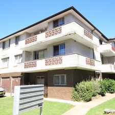 Rental info for FRESLY PAINTED 2 bedroom unit with lock up garage in the Sydney area
