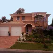 Rental info for LARGE 4 BEDROOM FAMILY HOME .... in the Rouse Hill area