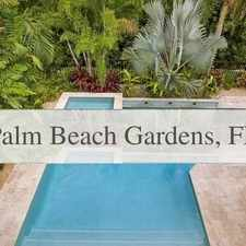 Rental info for House In Move In Condition In Palm Beach Gardens in the Palm Beach Gardens area