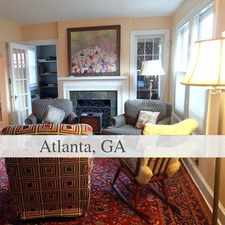 Rental info for CHARMING 4 Bedroom/2 Bath In Atlanta. in the Lake Claire area