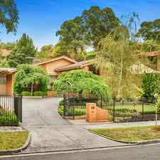 Rental info for UNDER APPLICATION Set In Enticing Landscaped Gardens! in the Templestowe area