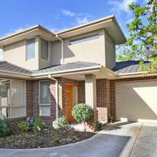 Rental info for MODERN TOWNHOUSE WITHIN MINUTES TO HOLMESGLEN TAFE! in the Melbourne area
