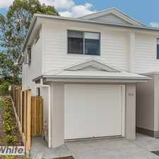 """Rental info for BRAND NEW TOWNHOUSE IN """"VIDORRA"""" in the Brisbane area"""