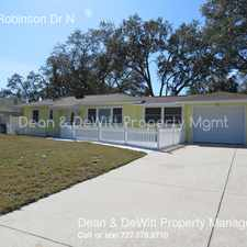 Rental info for 1116 Robinson Dr N in the St. Petersburg area