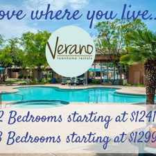 Rental info for Verano Townhomes