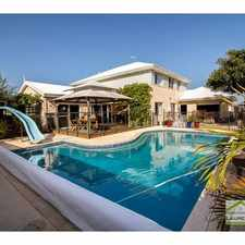 Rental info for LUXURIOUS FAMILY HOME WITH SPARKLING POOL + VIEWS! in the Quinns Rocks area