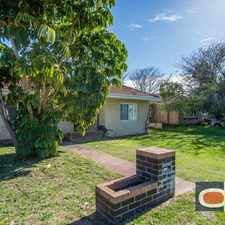 Rental info for 3 Bedroom House with Big Shed and Backyard - Pets Ok and Lawn mowing included in the Perth area