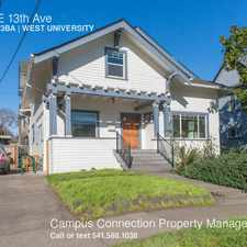 Rental info for 427 E 13th Ave in the Eugene area