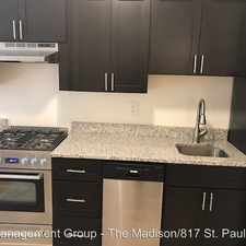 Rental info for 921 St Paul Street in the Baltimore area