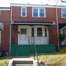 Rental info for Beautiful townhome located in Loch Raven area near schools, Loyola College, Morgan State University! New windows! Partially finished basement! Washer and Dryer! Freshly painted! New flooring in kitchen! Excellent location to get to work! in the New Northwood area