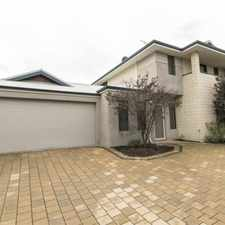 Rental info for LARGE 3 BEDROOM + STUDY TOWNHOUSE in the Perth area