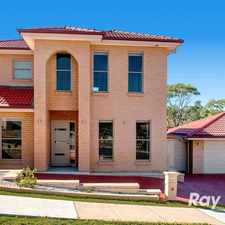 Rental info for BRAND NEW FAMILY HOME in the Castle Hill area