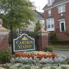 Rental info for 313 Cameron Station Boulevard, Unit 102 in the Alexandria area