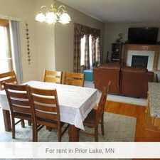 Rental info for Prior Lake - This 4 Bedroom Home Has 2-1/2 Bath...