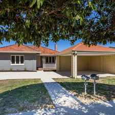 Rental info for RENOVATED 4 X 2, WALK TO CURTIN UNI