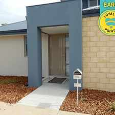 Rental info for AN NRAS PROPERTY IMPECCABLE MODERN 3X2 TOWNHOUSE in the Perth area