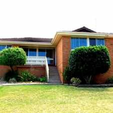 Rental info for Renovated Family Home in the Koonawarra area