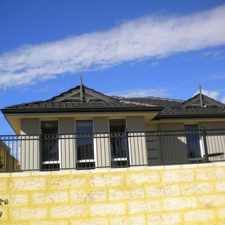 Rental info for WALKING DISTANCE TO THE TRAIN AND OPPOSITE A PARK - PERFECT LOCATION! in the Perth area