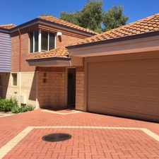 Rental info for FULLY FURNISHED AND EQUIPPED DELIGHTFUL 3 BED 2 BATH TOWNHOUSE CLOSE TO THE CITY! in the Perth area