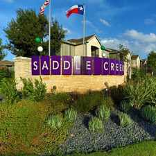 Rental info for Saddle Creek Apartments