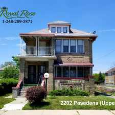 Rental info for 2200-02 Pasadena St in the Mcnichols area