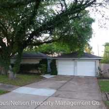 Rental info for 5002 Appleblossom in the Friendswood area