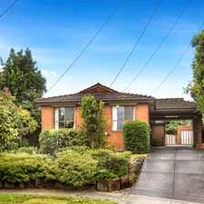 Rental info for Spacious 3 bedroom family home in the Bulleen area