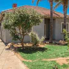Rental info for Three Bedroom Home Close to all Facilities in the Adelaide area