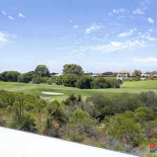 Rental info for STUNNING FAMILY HOME OVERLOOKING THE GOLF COURSE in the Currambine area