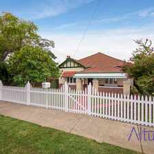 Rental info for LOVELY LARGE HOME in the Mount Hawthorn area