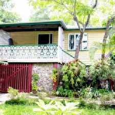 Rental info for CHARACTER WORKERS COTTAGE IN LEAFY SURROUNDS in the Paddington area