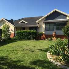 Rental info for Executive home with rural aspect in the Singleton area