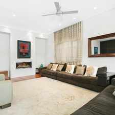 Rental info for BRIGHT AND STYLISH FAMILY HOME in the Sydney area