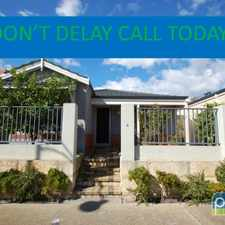Rental info for DON'T DELAY CALL TODAY! in the Wattleup area