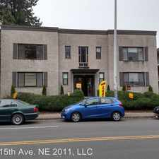 Rental info for 5241 15th Ave. NE in the Seattle area